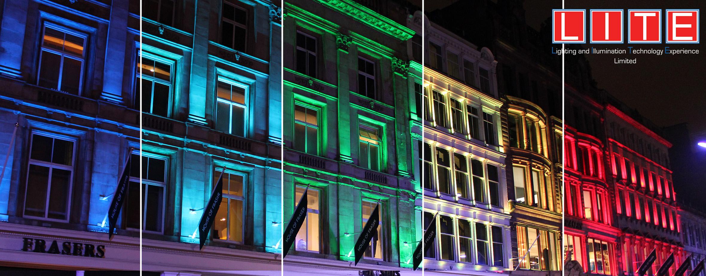 Lite Ltd | Glasgow House Of Fraser Light/rgb Lighting Glasgow House Of  Fraser/commercial Lights Glasgow House Of Fraser/glasgow House Of Fraser  City ...