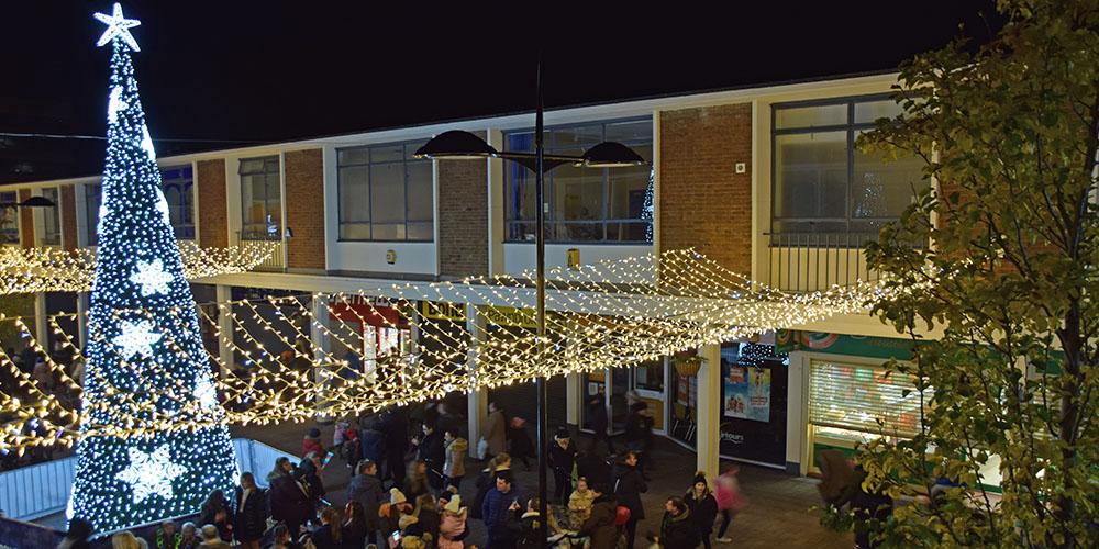 Kirkby Shopping Centre Christmas Lighting Festive Lights